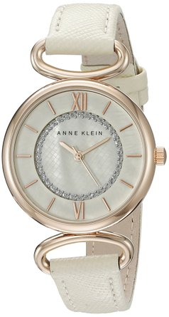 Anne Klein white leather