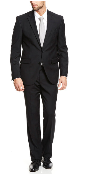 Bộ suit Kenneth Cole New York Grey Stripe, 100% Wool